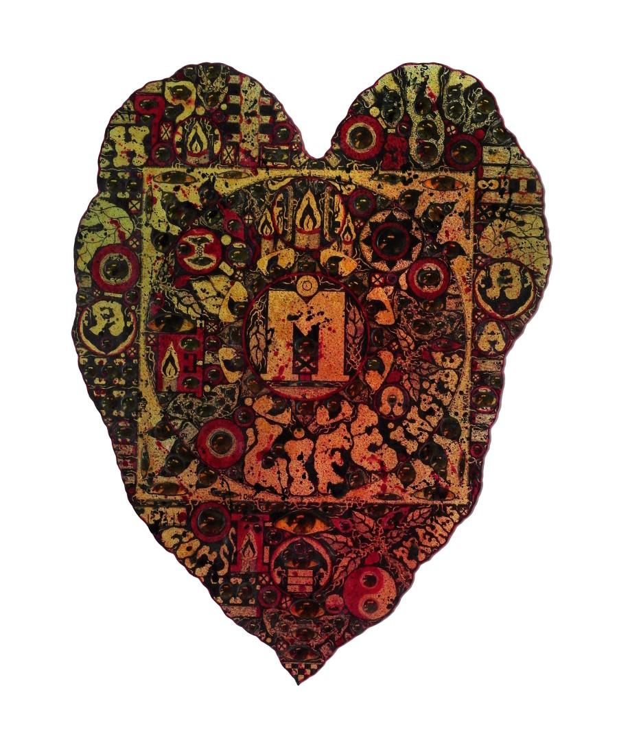 Tav. 33. One...The heart, 1988, collage e inchiostri su carta, cm. 50x38. Collezione privata