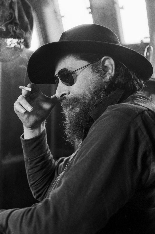 Servizio fotografico all'artista Guy Harloff a Chioggia nel 1974